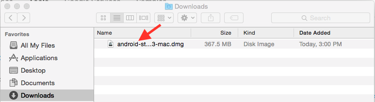 installing android studio on mac
